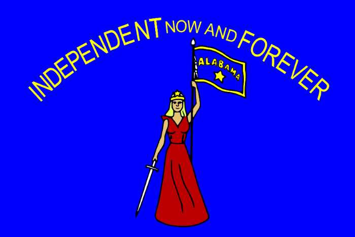 Flag Alabamy 1861g. litsevaya storona - Штаты США. Штат Алабама