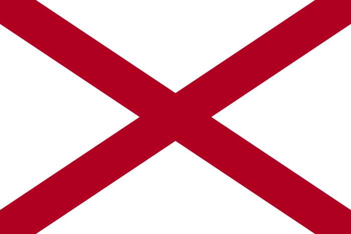 Flag Alabamy - Штаты США. Штат Алабама