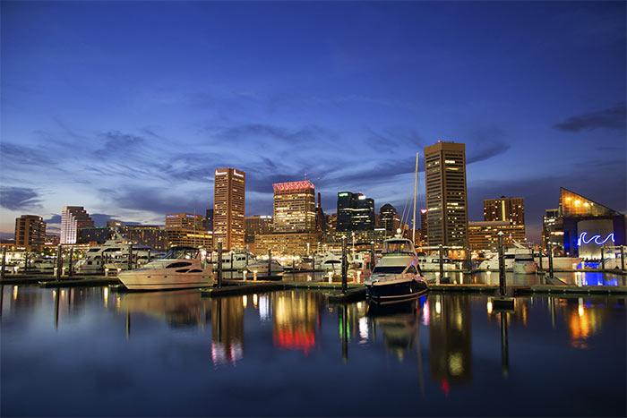 Gavan Inner Harbor - Балтимор - самый «темный» город США