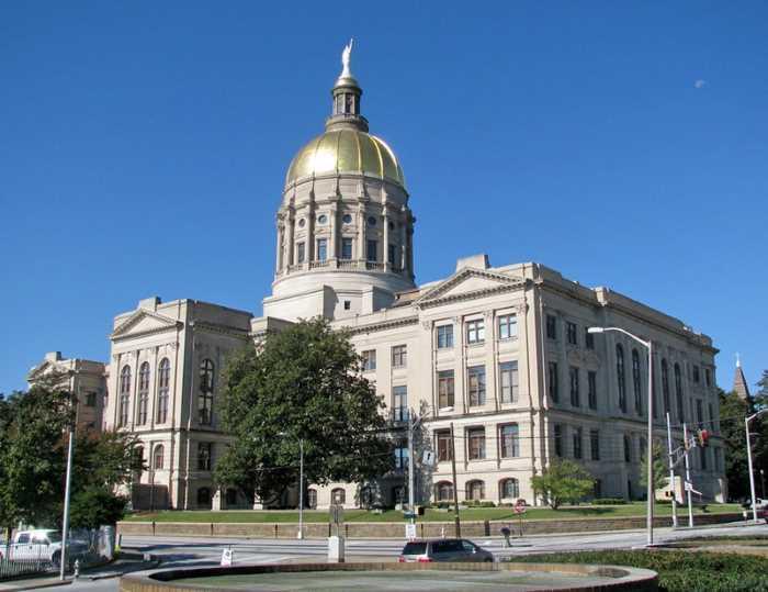 Kapitolij shtata Dzhordzhiya SSHA Atlanta - Город Атланта, Джорджия, США