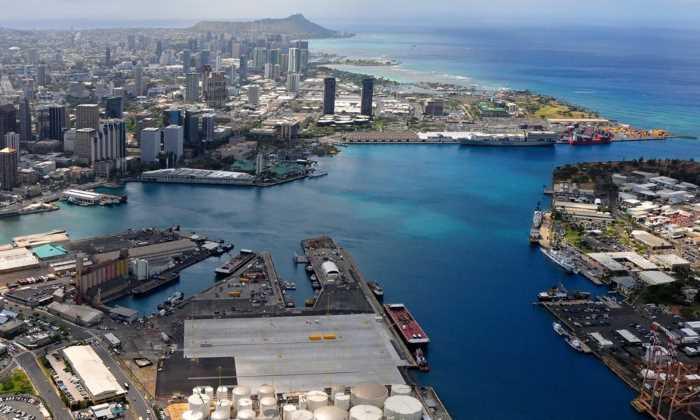 Kruiznyj port Gonolulu Gavaji - Штаты США. Гавайи - 50 штат США