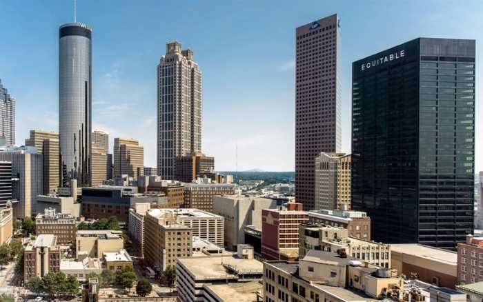 Neboskreby v Atlante - Город Атланта, Джорджия, США