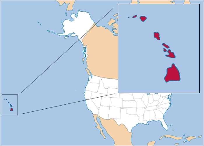 SHtat Gavaji - Штаты США. Гавайи - 50 штат США