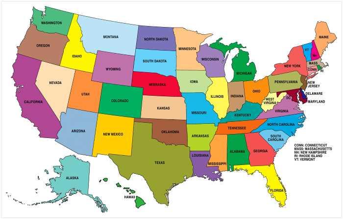 SHtaty SSHA - Штаты США. Гавайи - 50 штат США