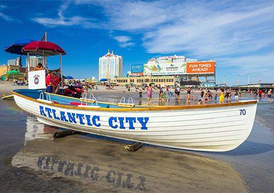 Пляж в Атлантик-Сити