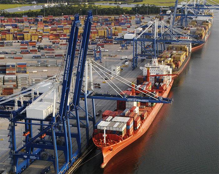 Port CHarlston - Чарльстон - один из самых крупных портов мира