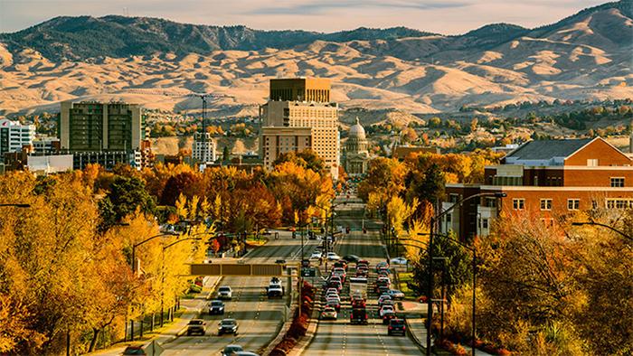 Bojse shtat Ajdaho - История возникновения и расположение Бойсе, штат Айдахо