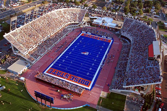 Bronco Stadium - История возникновения и расположение Бойсе, штат Айдахо