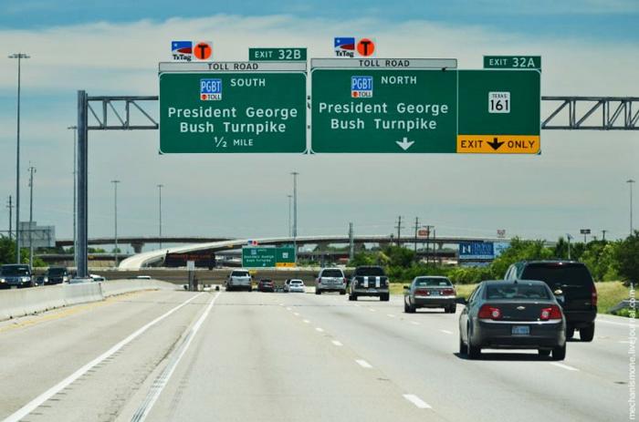 Дорожные знаки в США