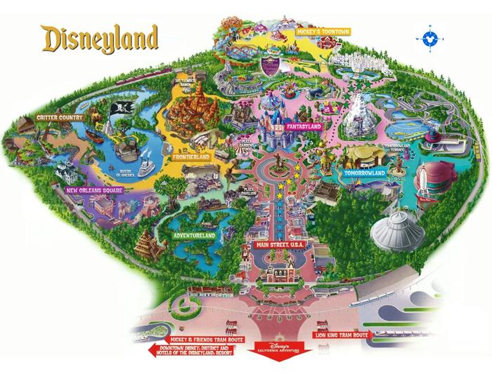 Karta Disnejlenda - Диснейленд — масштабный парк развлечений