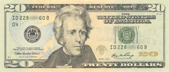 Джексон на деньгах