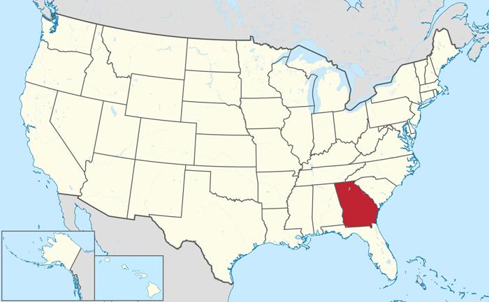 Gde nahoditsya shtat Dzhordzhiya - Где находится штат Джорджия?