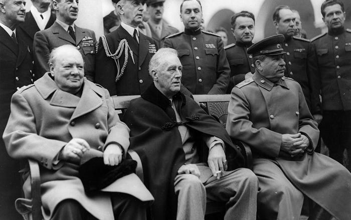 Vstrecha CHerchillya Ruzvelta i Stalina - Франклин Делано Рузвельт — 32-й президент США