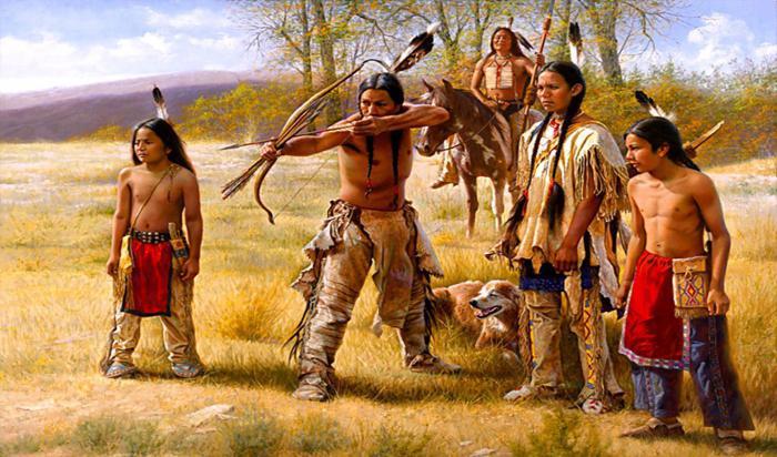 Indejtsy korennoe naselenie Ameriki - Индейцы — коренное население Америки