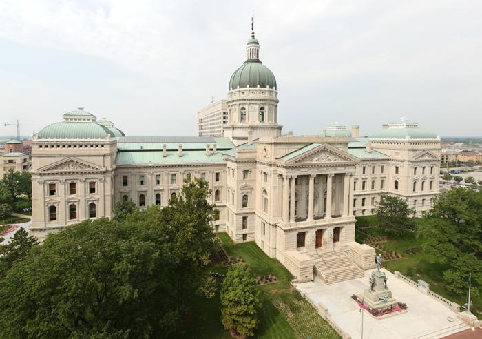 Kapitolij shtata Indiana - Столица штата Индиана - Индианаполис