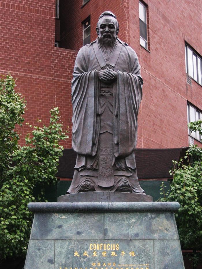 Statuya Konfutsiya - Китайский квартал в Нью-Йорке