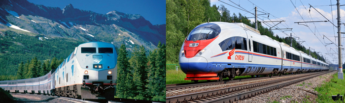ZHeleznye dorogi Ameriki i Rossii - Железные дороги США: история и описание