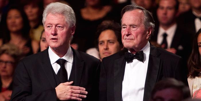 Б. Клинтон и Дж. Буш-старший