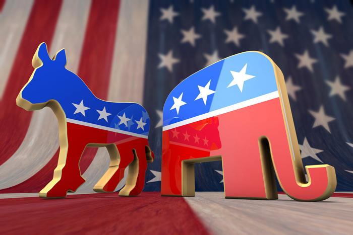 Partii v Kongresse SSHA - Конгресс США