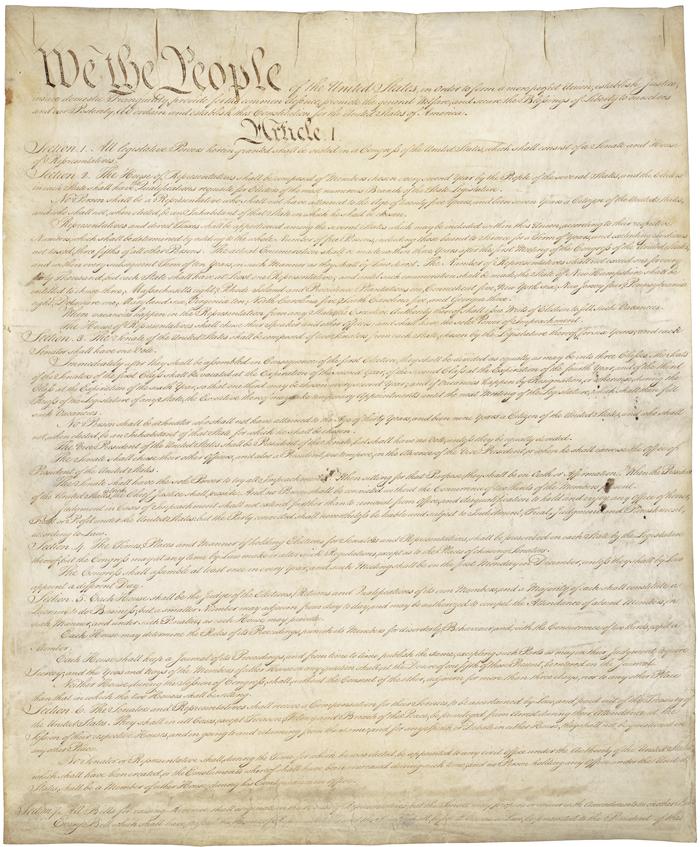 Struktura Konstitutsii - Конституция США