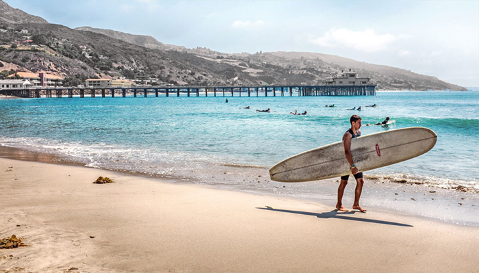 Surfrider Beach - Лос-Анджелес: пляжи звёздного города