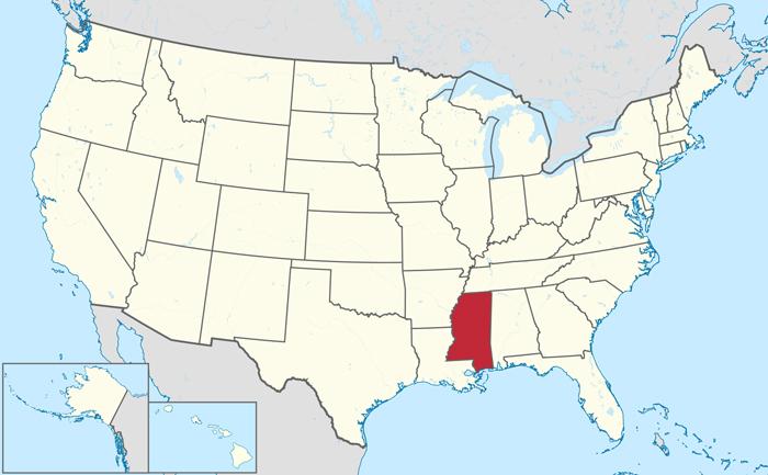 SHtat Missisipi SSHA - Штат Миссисипи, США