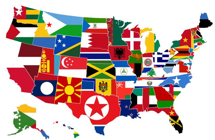 Samye mnogochislennye natsionalnosti v SSHA - Национальный состав населения США