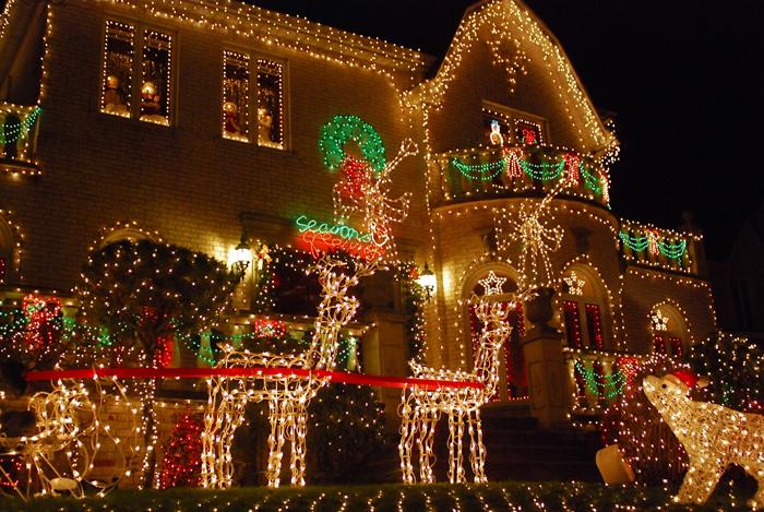 Ukrashenie ulits i domov - Рождество в Нью-Йорке - сказочный праздник